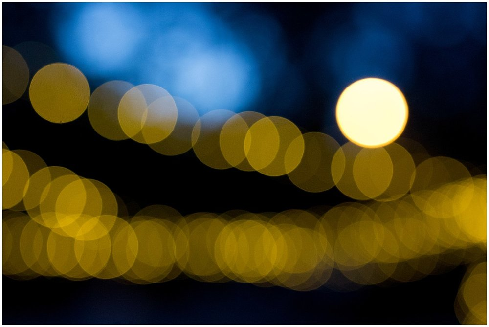 bokeh with twinkle lights at night