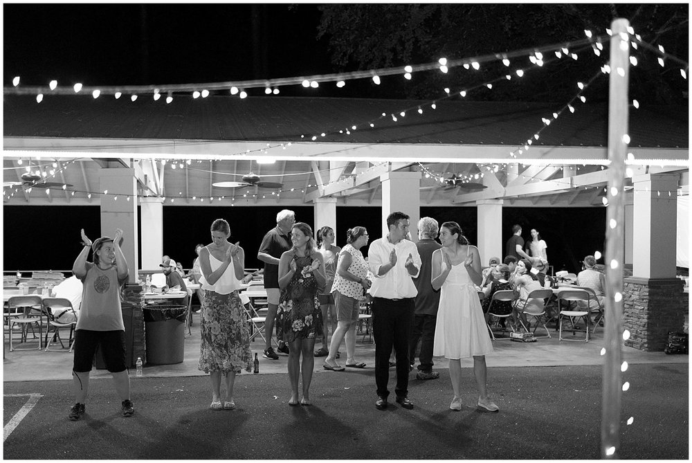 dance party at camp pavilion
