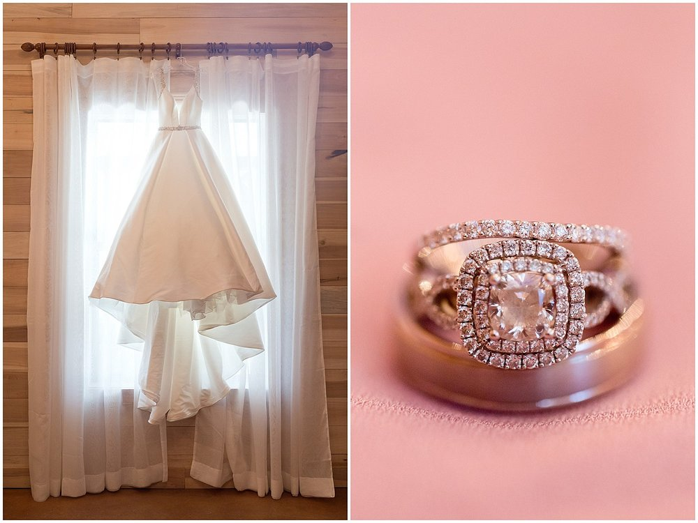 Southern Mississippi wedding photographer - dress and ring detail shots in Kiln, MS