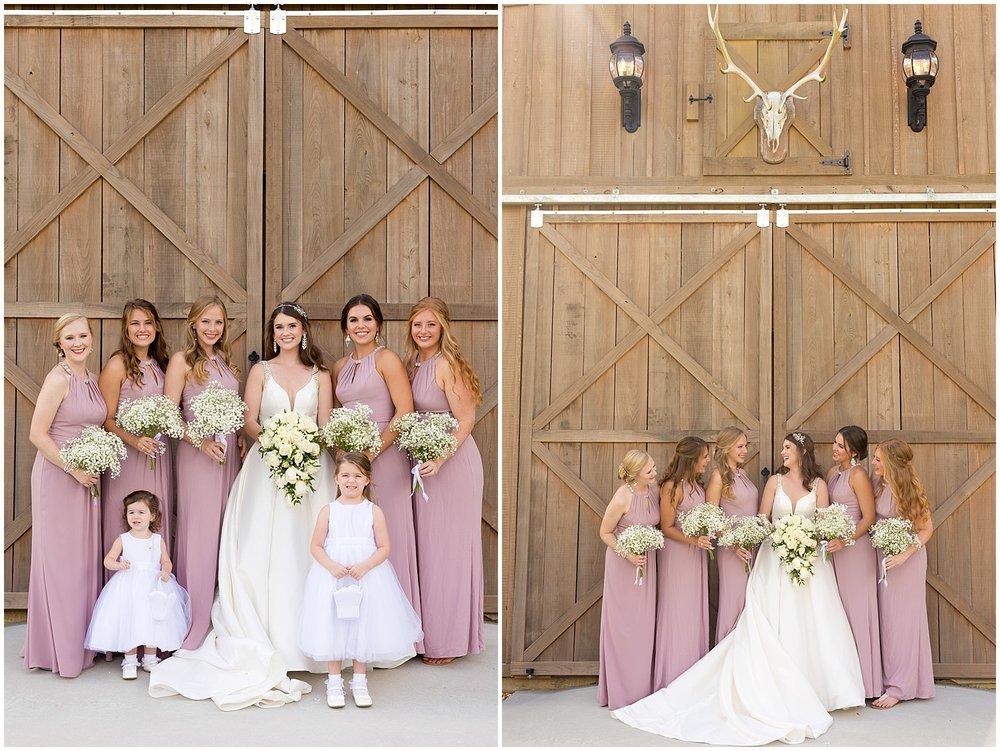barn wedding venue in Southern Mississippi - bridesmaid photo at The Barn at Love Farms