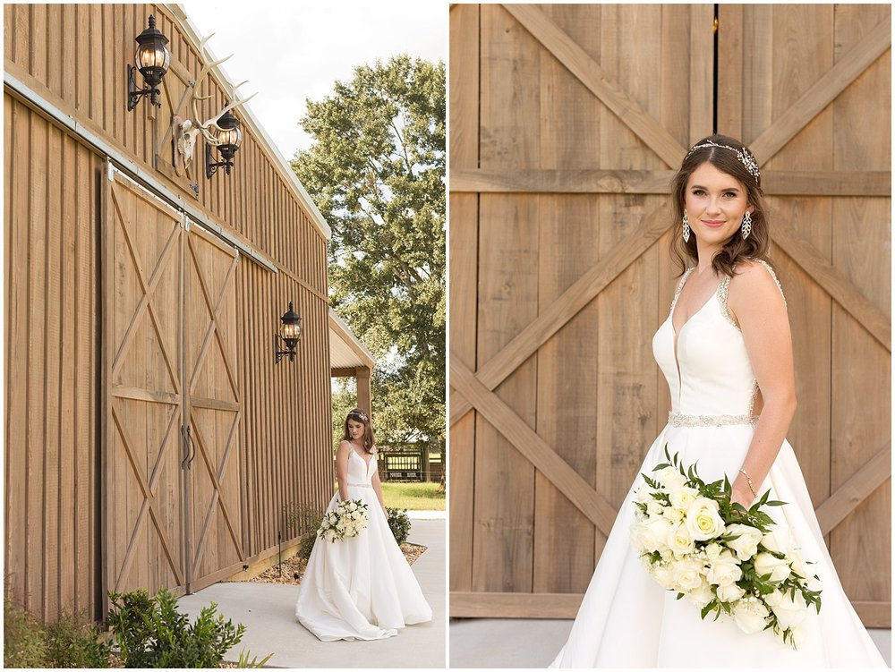 bridal portraits at barn - Ocean Springs wedding photographer