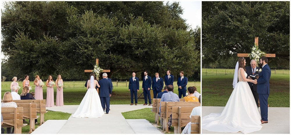 outdoor wedding in Kiln, MS