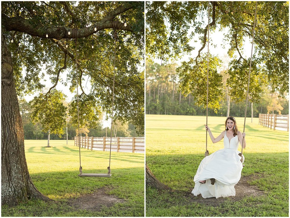 bridal portrait at The Barn at Love Farms - Ocean Springs, MS wedding photographer