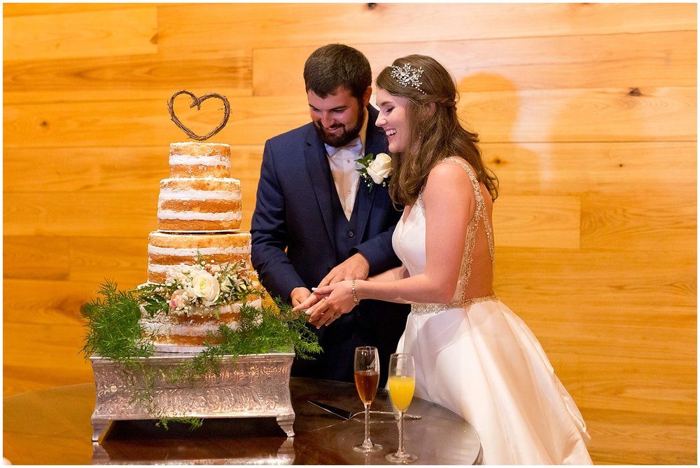 naked wedding cake - Kiln, MS wedding photographer