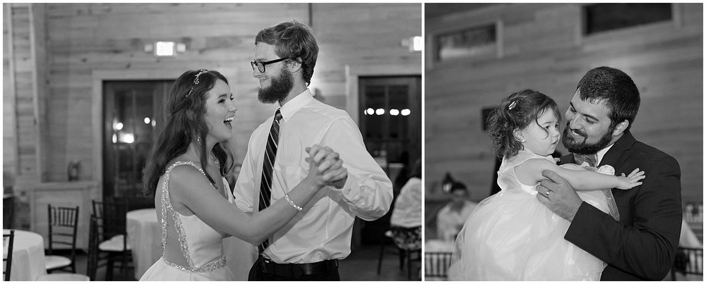 candid dancing photos at wedding reception in Kiln, MS