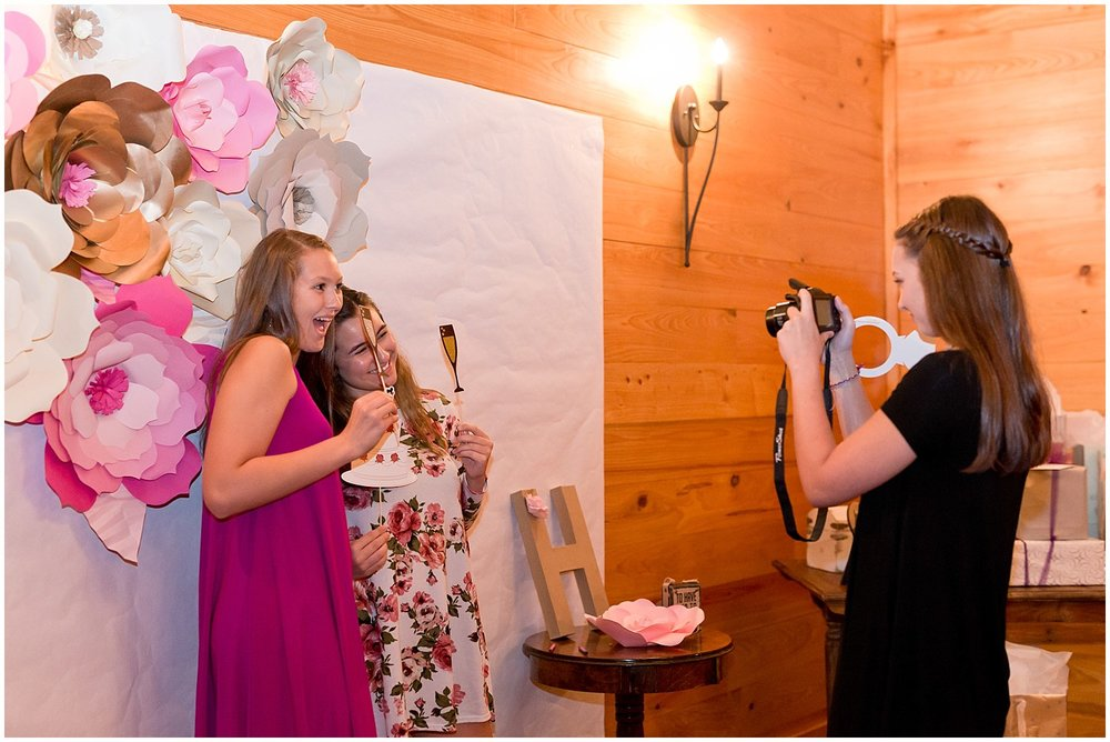 DIY wedding photo booth at The Barn at Love Farms