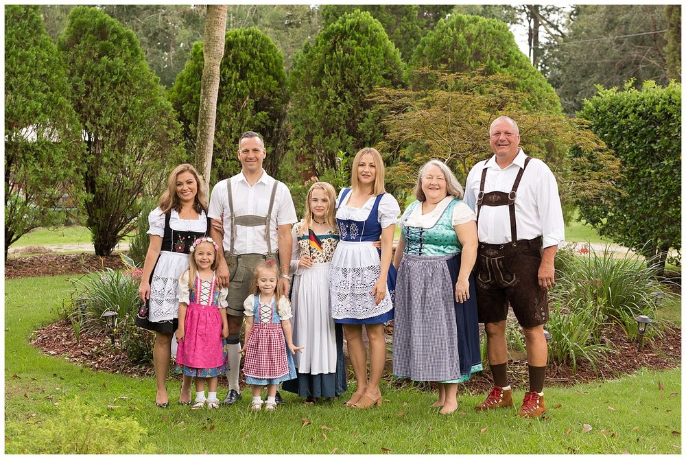 family photo with German clothing