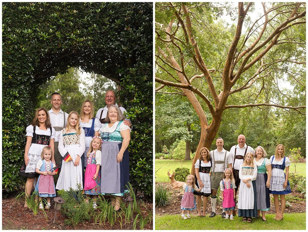 Ocean Springs photographer - extended family photos with German theme