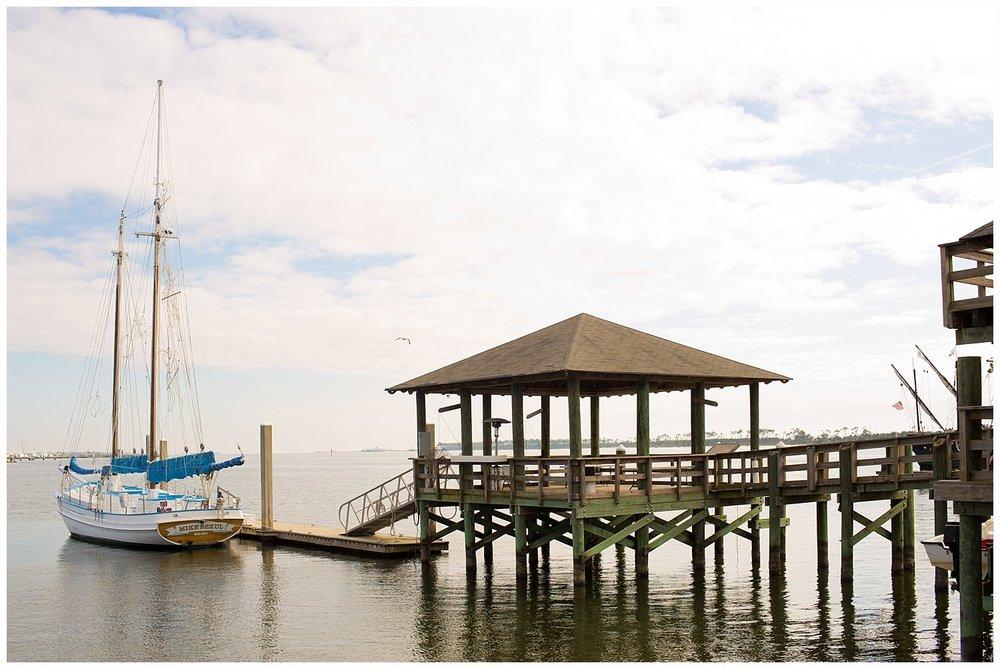 dock and sailboat at Biloxi Small Craft Harbor