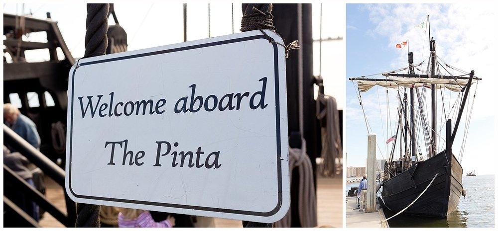 visiting the Nina ship