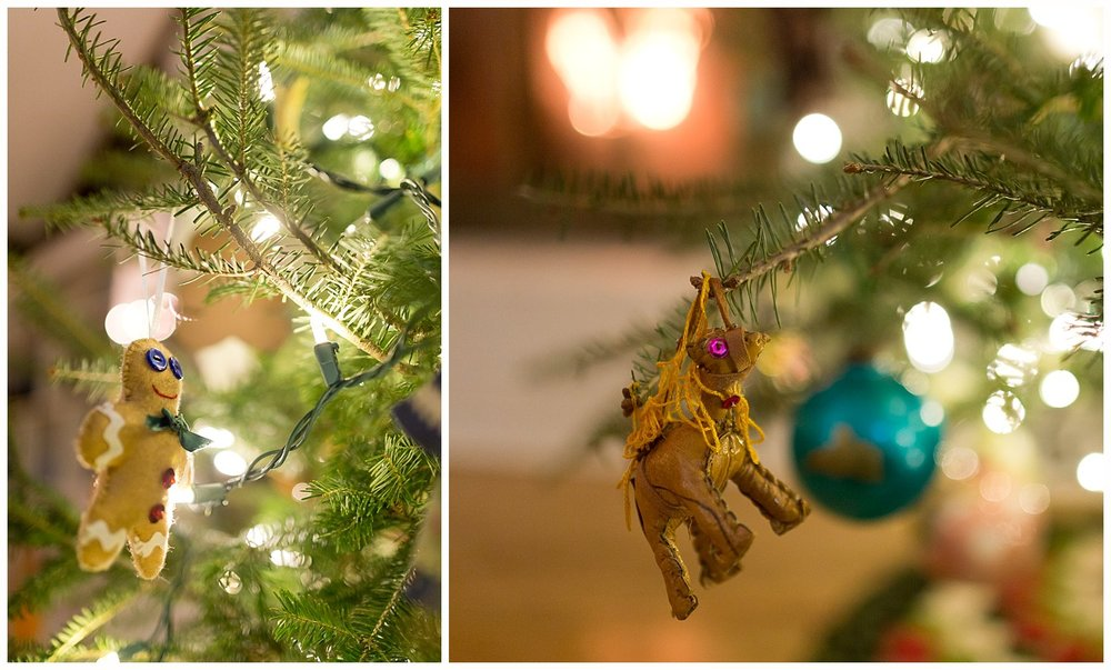 gingerbread man Christmas ornament, camel Christmas ornament from Morocco