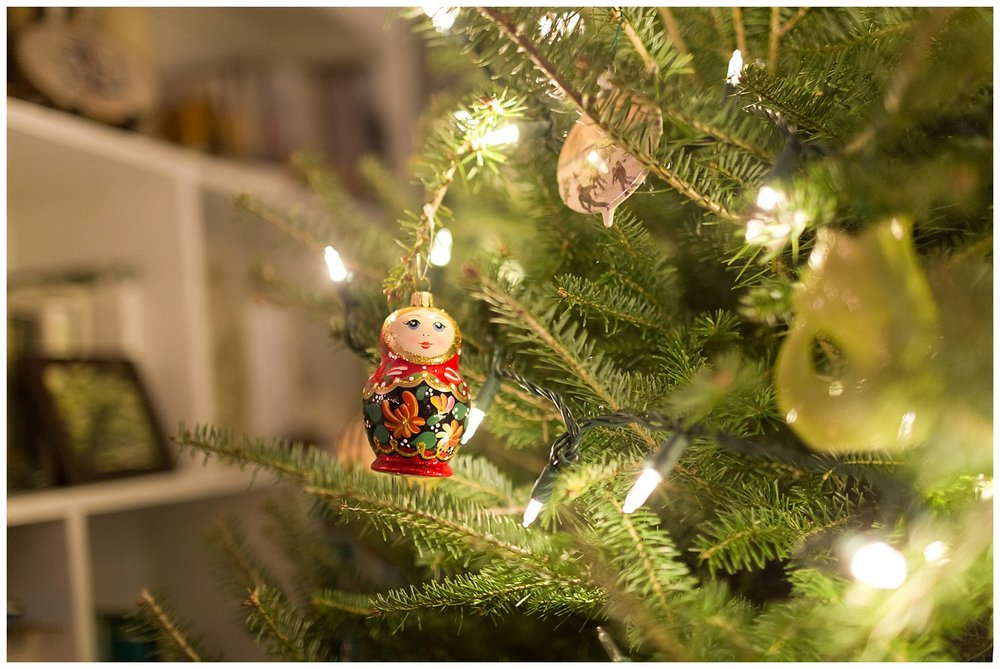 Russian doll Christmas ornament