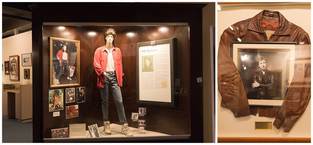 Billy Ray Cyrus and Keith Whitley exhibits at Highlands Museum in Ashland, KY
