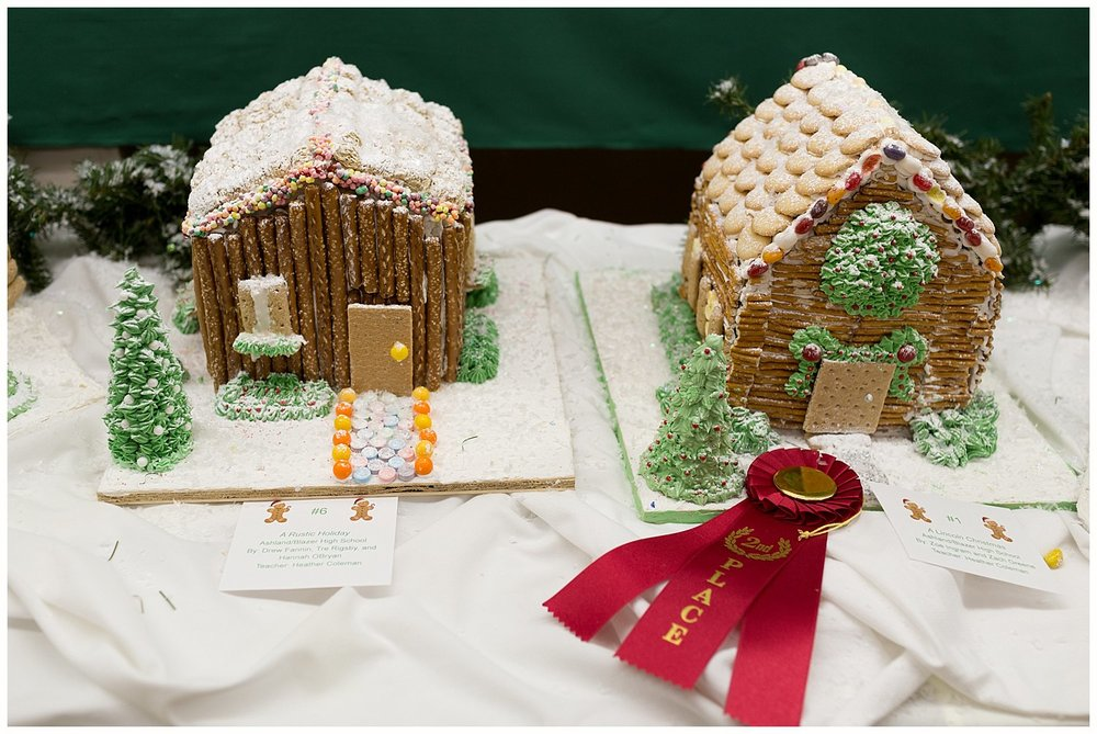 gingerbread houses at Highlands Museum at Christmas time