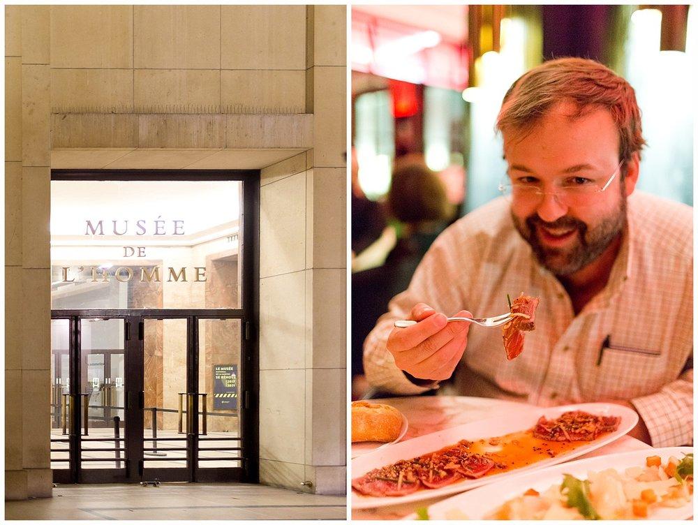 dinner at Café de l'Homme