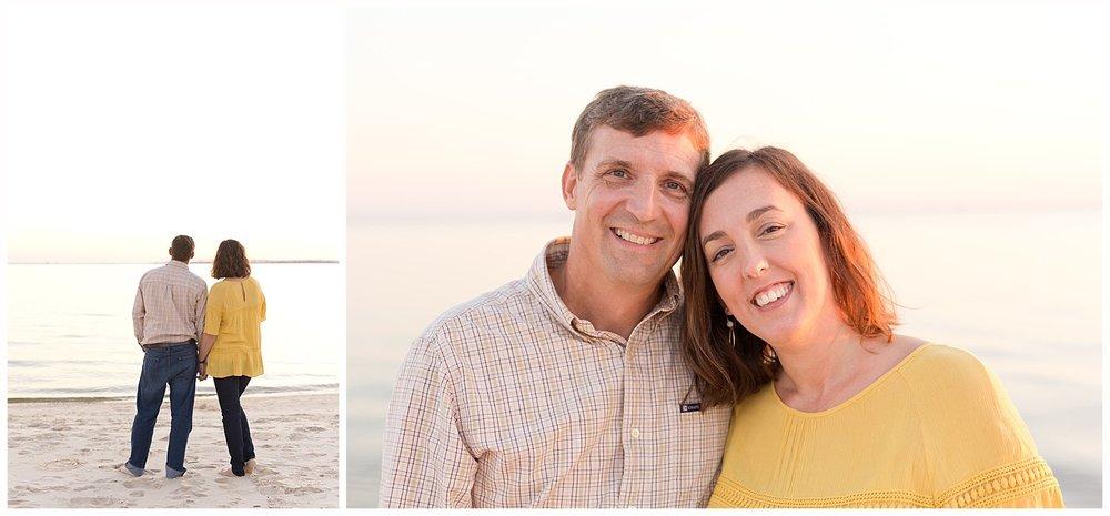 couple portraits at East Beach, Ocean Springs