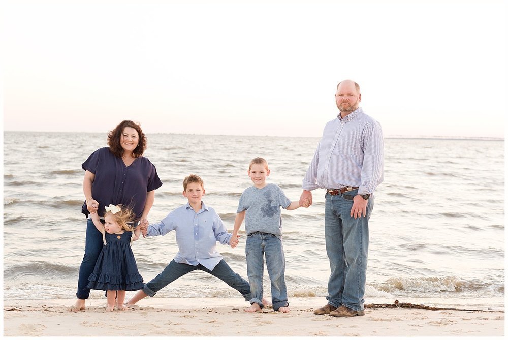 family pictures on the beach - Ocean Springs photographer