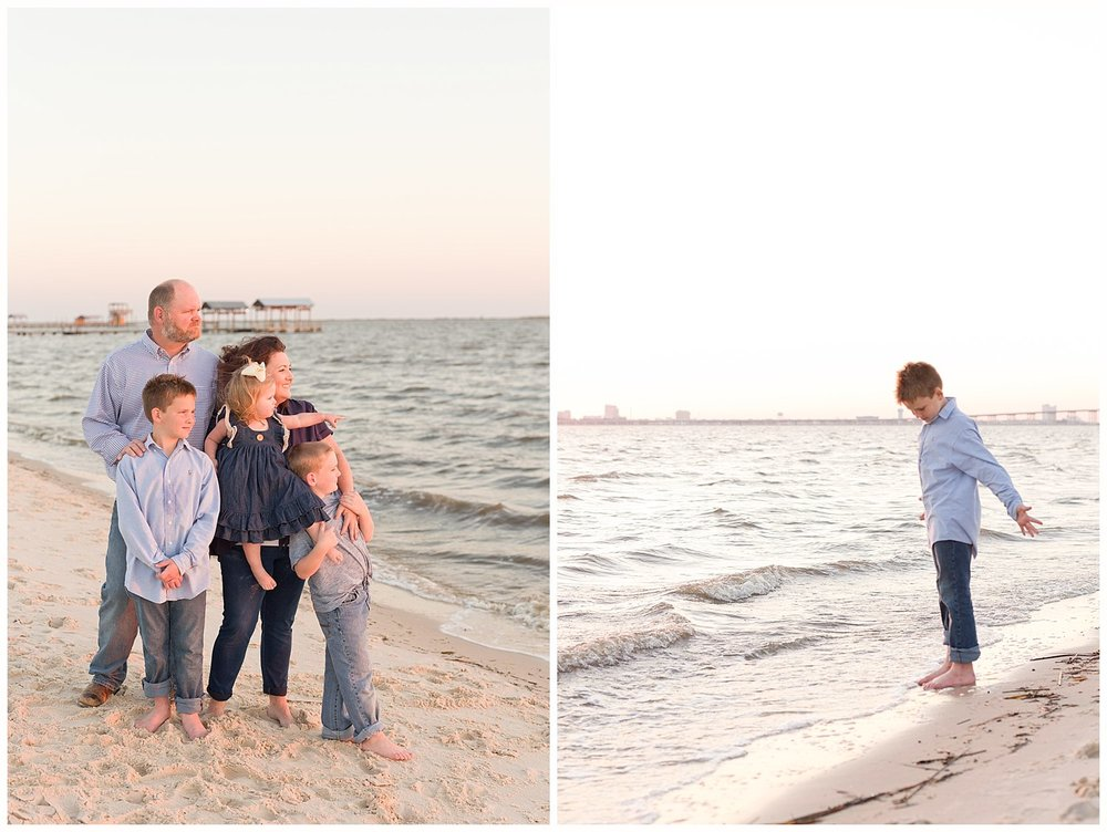 family photos at Ocean Springs East Beach