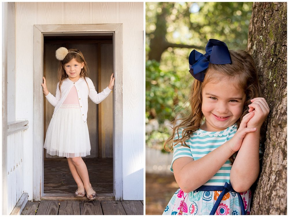 girls' preschool photos outdoors in Ocean Springs, MS