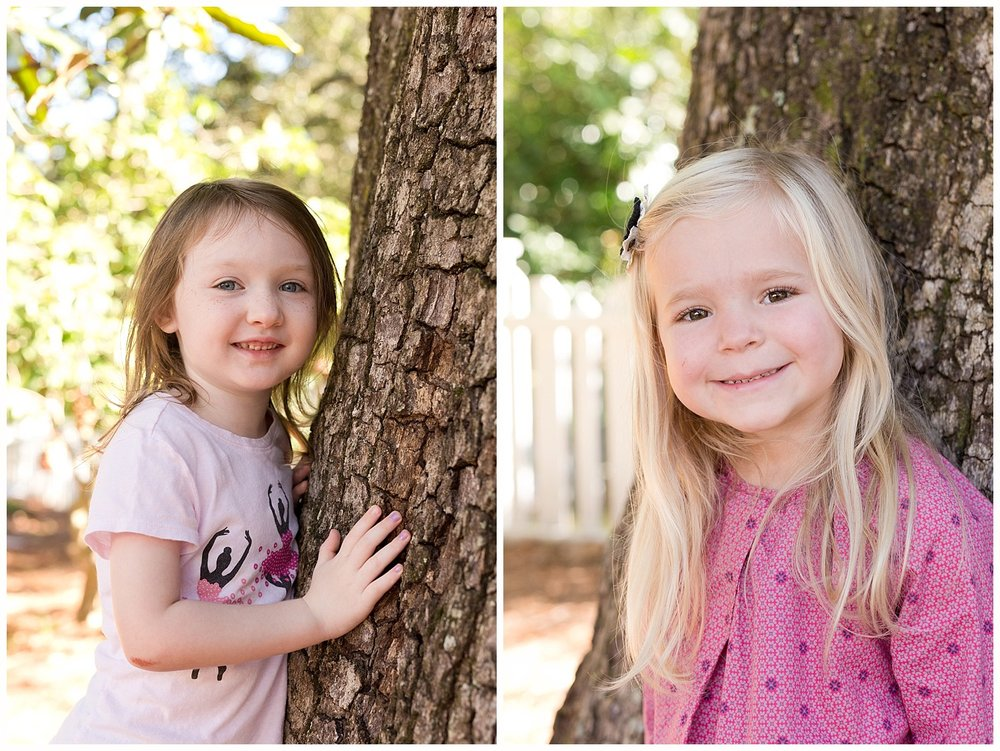 school pictures with tree on playground