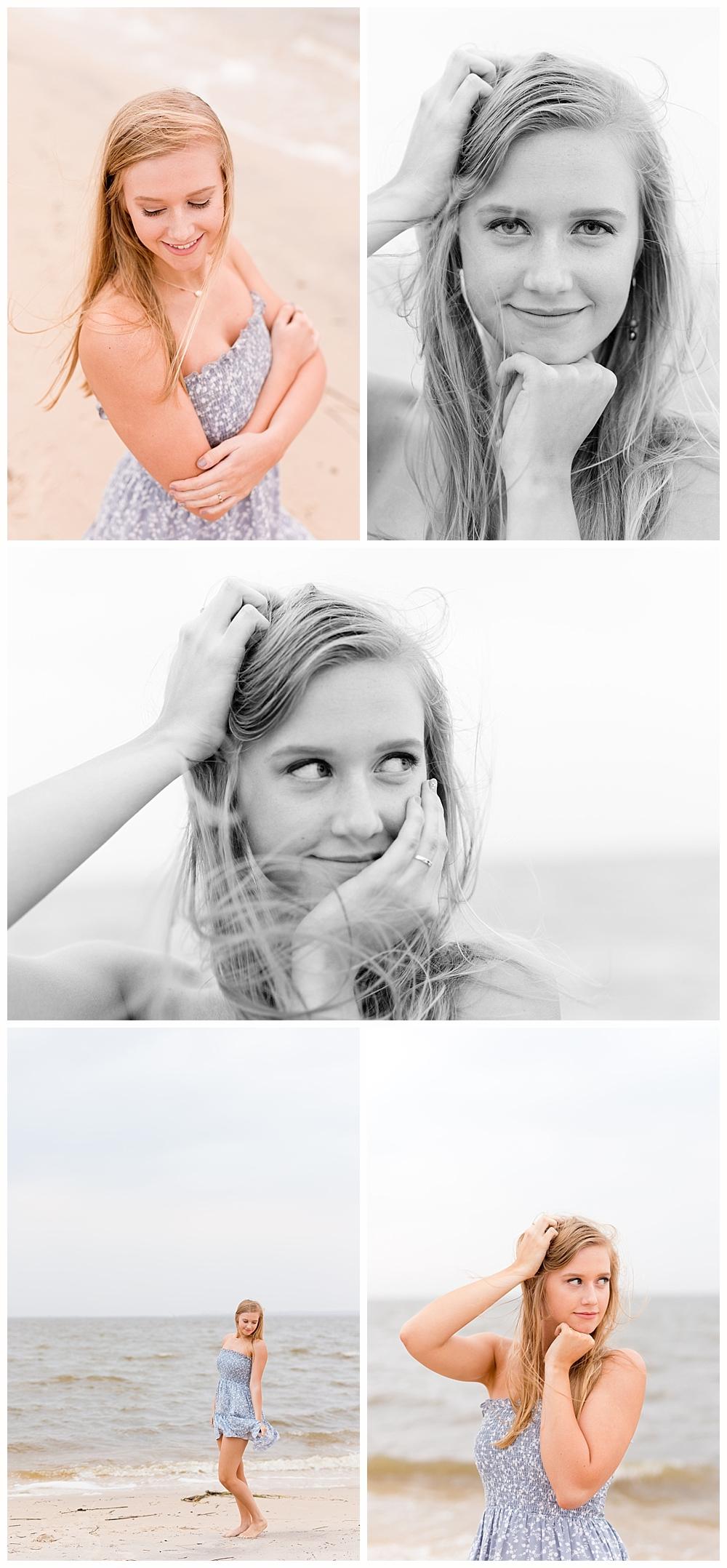 senior casuals at East Beach in Ocean Springs - Mississippi senior portrait photographer