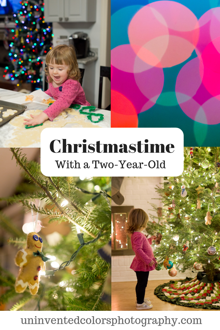 Christmastime with a two-year-old - toddler Christmas photos