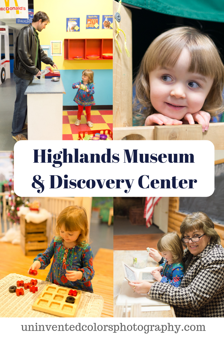 Highlands Museum & Discovery Center with a two-year-old