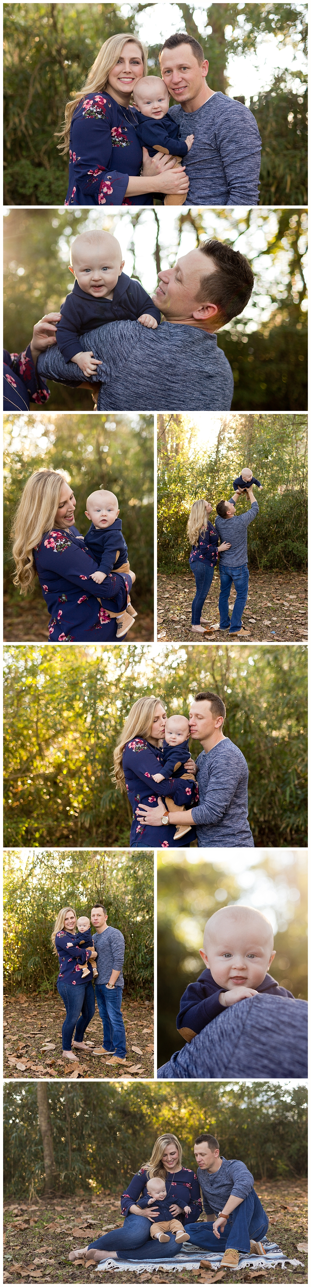 Ocean Springs family pictures - baby boy with parents - Mississippi Gulf Coast Photographer