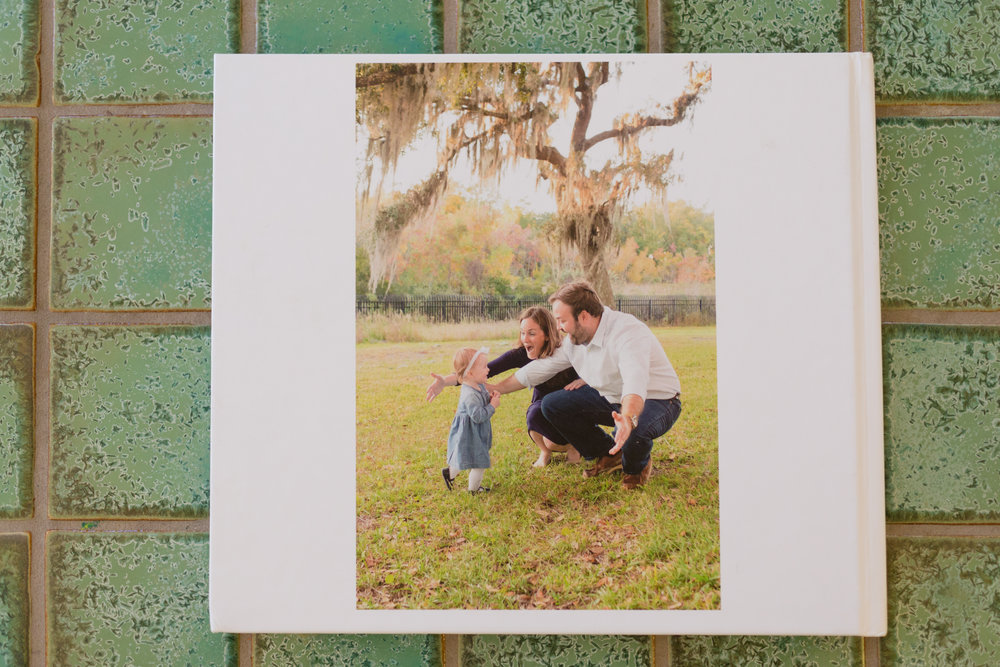 back of Blurb photo book - Ocean Springs lifestyle photographer