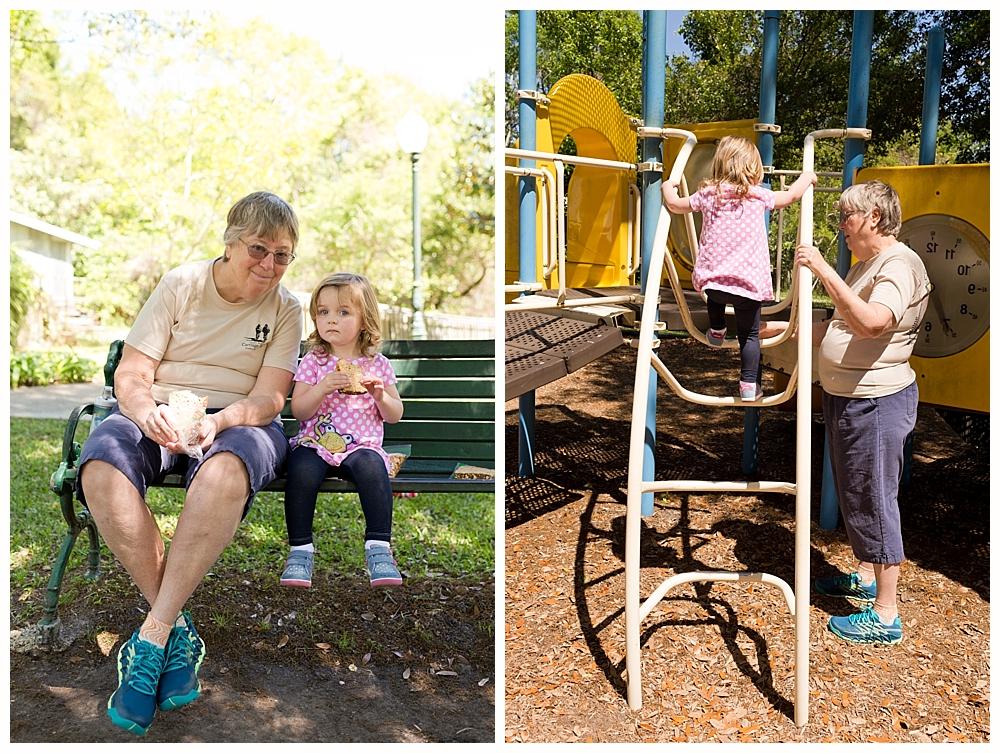 little girl with grandmother at Ocean Springs Little Children's Park