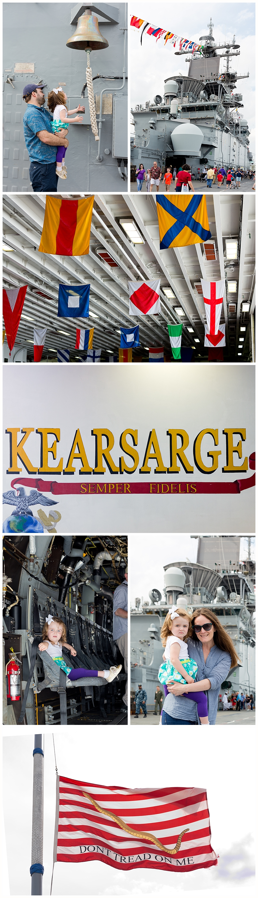 visiting the USS Kearsarge navy ship in New Orleans , Louisiana