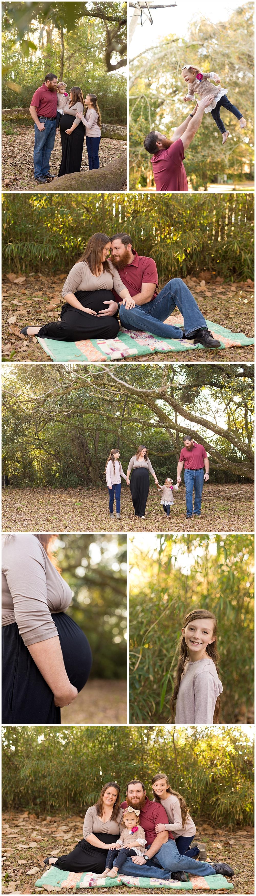 family maternity photos in Ocean Springs, Mississippi