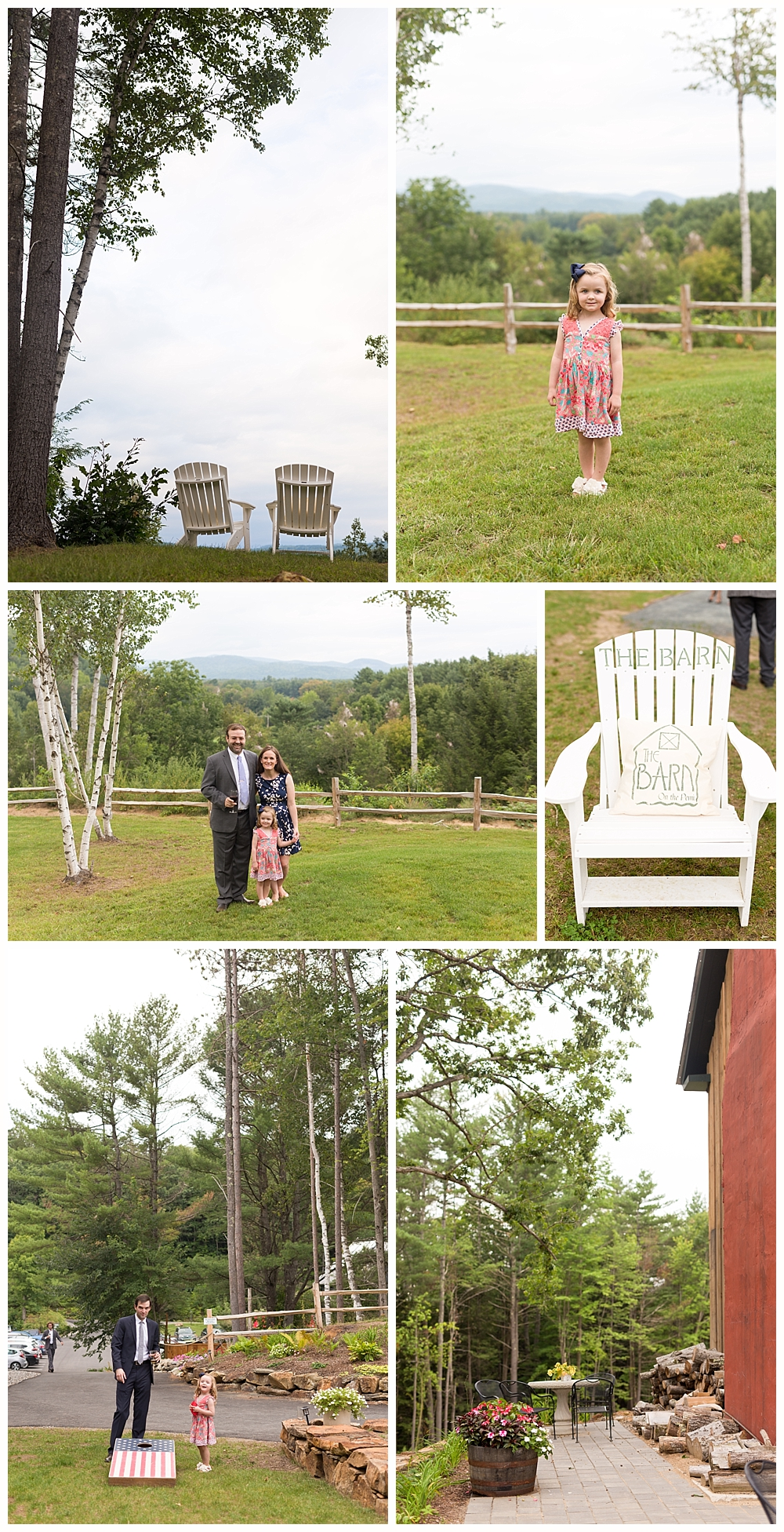 outdoor wedding reception in Holderness, NH - The Barn on the Pemi