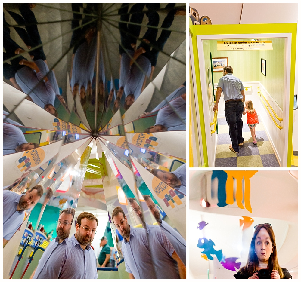 crazy mirrors and optical illusions at Strong National Museum of Play