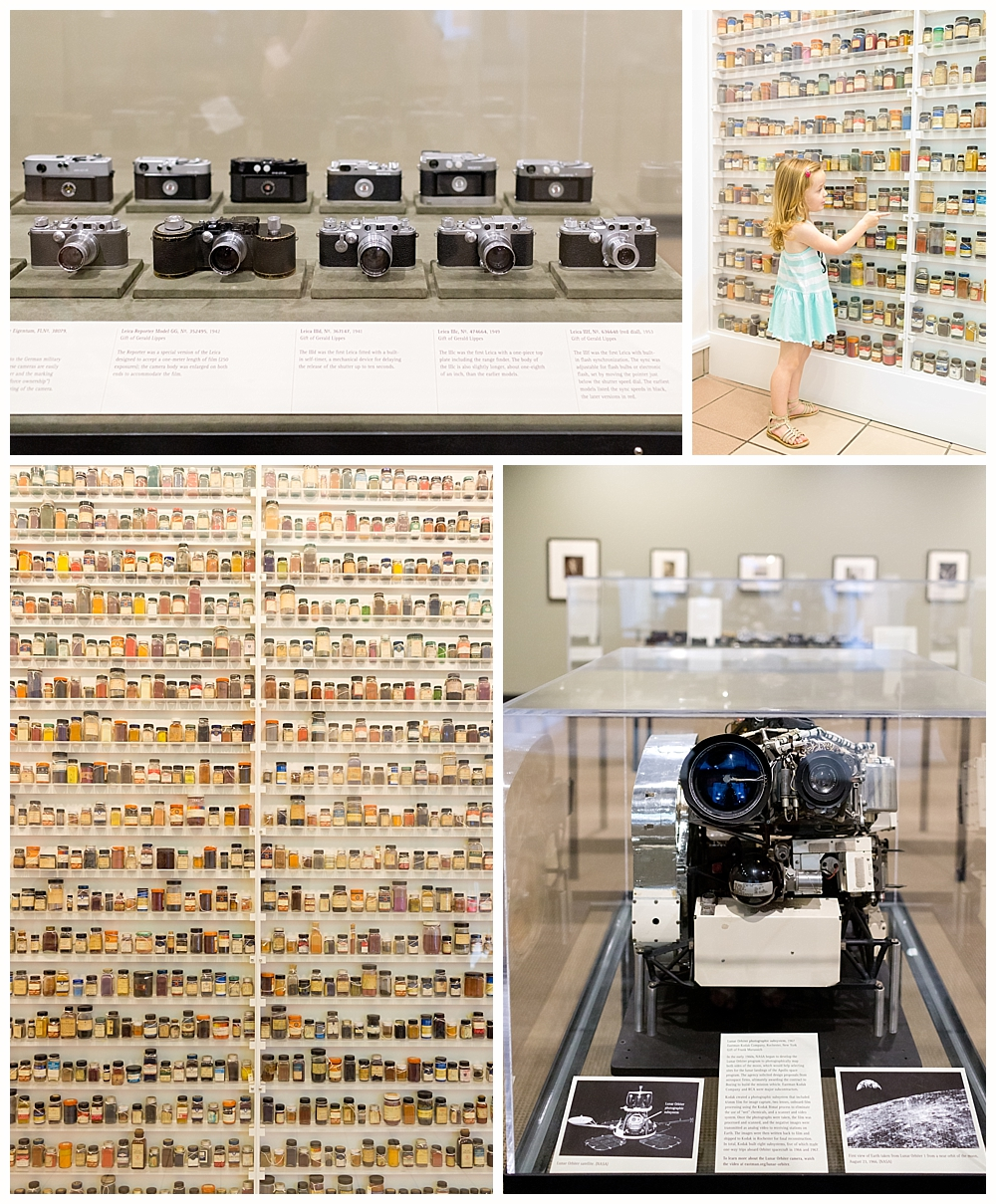 historical camera exhibit at Eastman museum in Rochester, NY