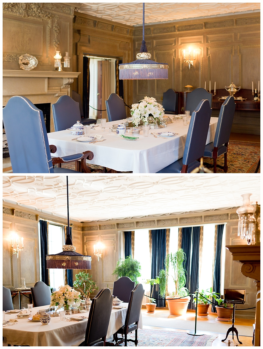 dining room at George Eastman mansion and museum