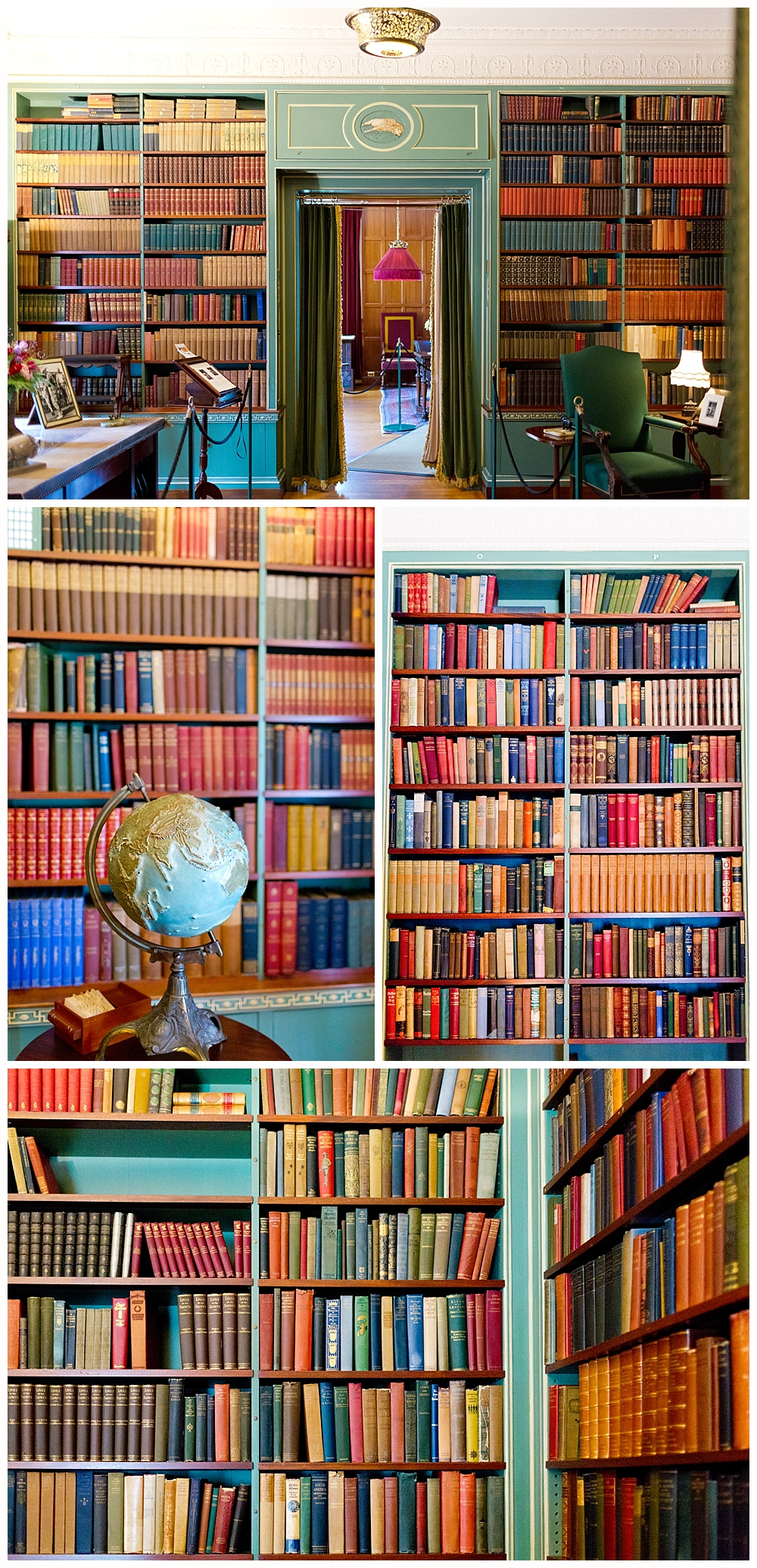 library at George Eastman mansion and Kodak museum