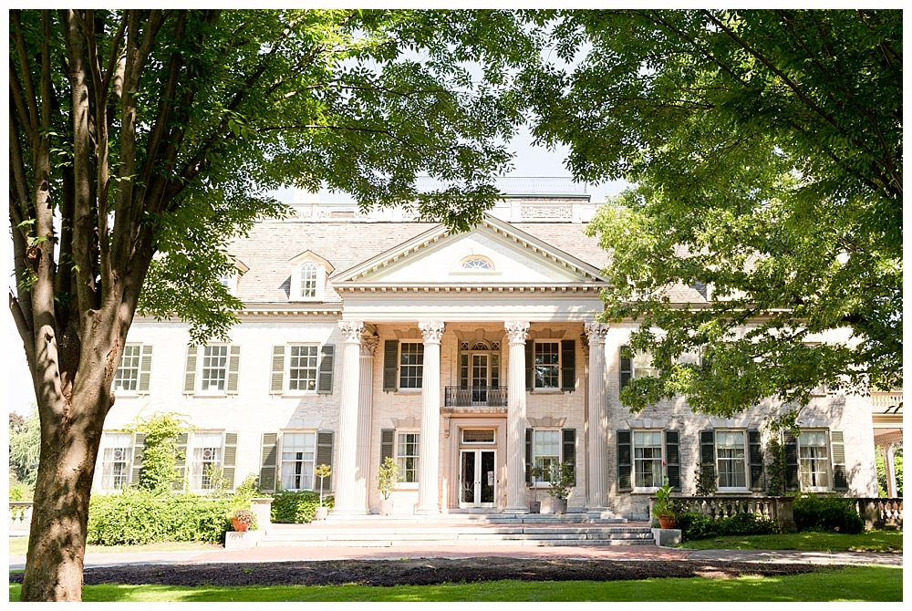 exterior of George Eastman mansion and Kodak museum in Rochester, NY