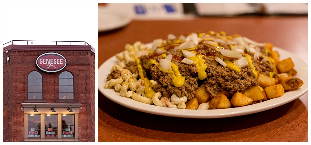 garbage plate at Genesee Brewhouse in Rochester, NY
