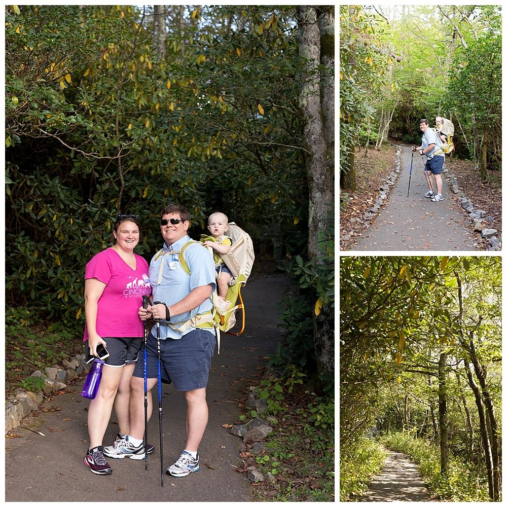 hiking to Brasstown Bald in North Georgia