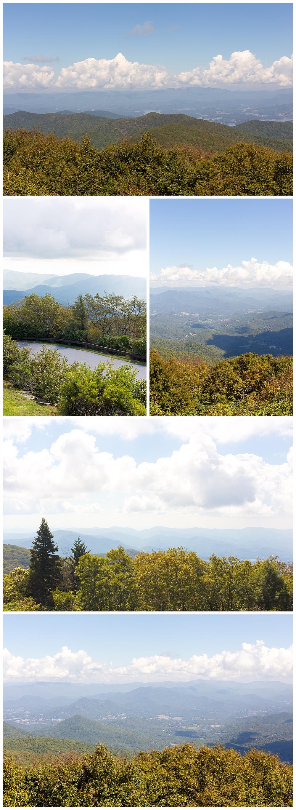 beautiful mountain scenery in Georgia - views from Brasstown Bald