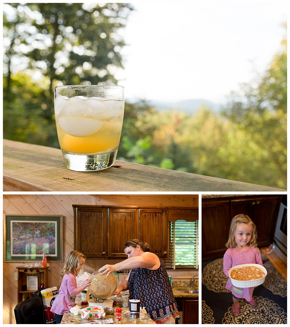 apple cider and apple cobbler in North Georgia