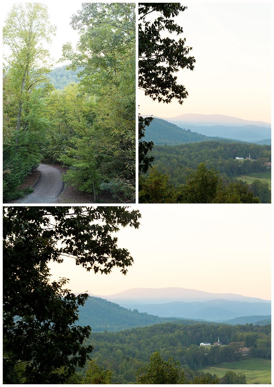 mountain view in North Georgia