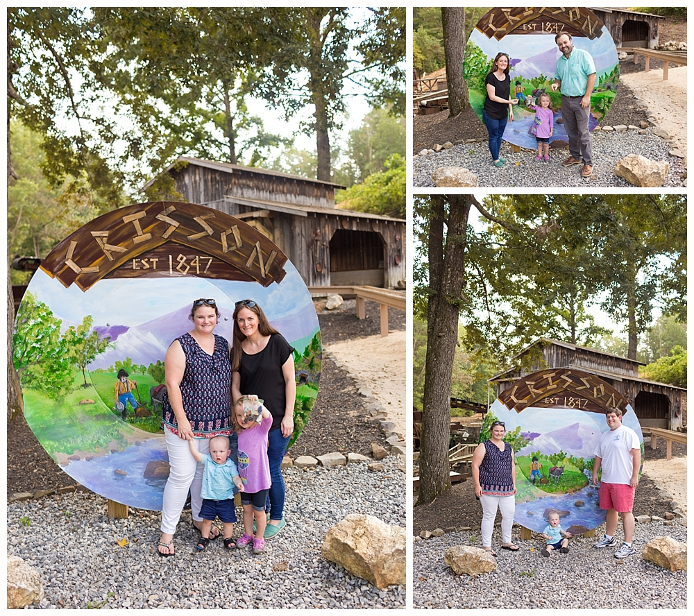 family photos at Crisson Gold Mine