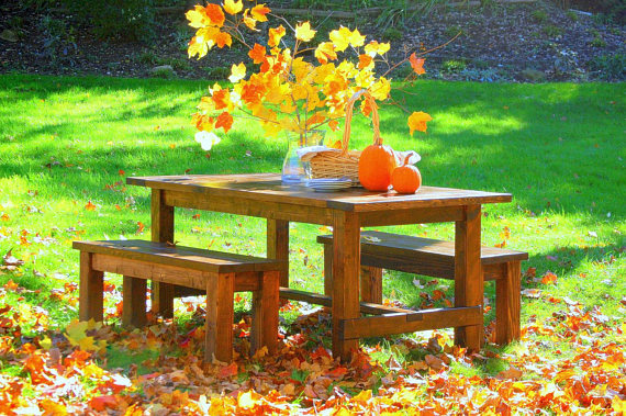 Farmhouse Table and Bench Set.jpg