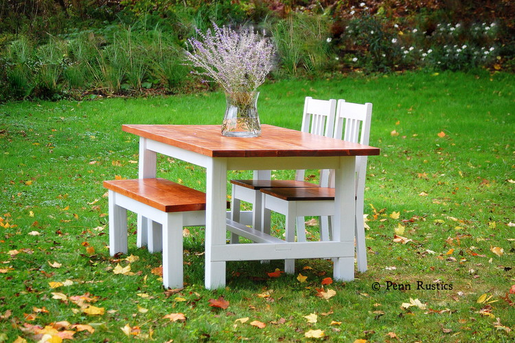 rustic country table and bench set.jpg