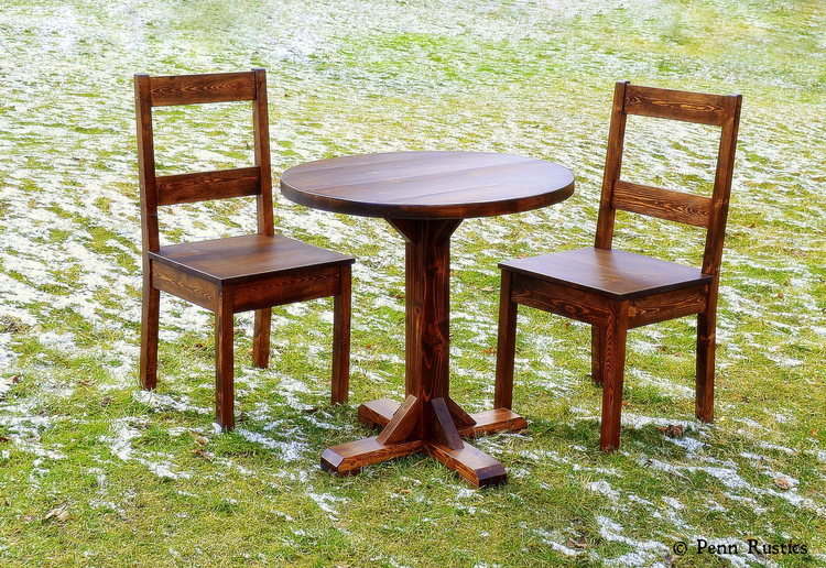 Rustic Round Pedestal Table and Chair Set.jpg