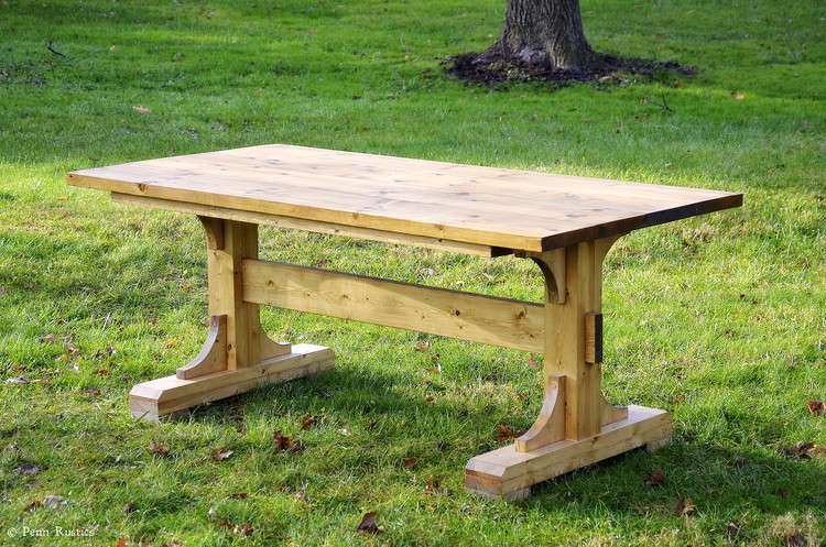 RUSTIC FARMHOUSE TRESTLE DINING ROOM TABLE.jpg