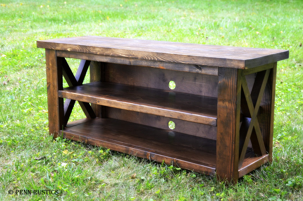 entertainment console rustic x table.jpg