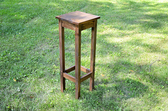 Everyday Rustic Solid Wood Plant Stand Side Table.jpg